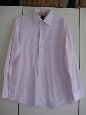 Daniel Hechter white and pink striped long-sleeved pure cotton shirt, size 16
