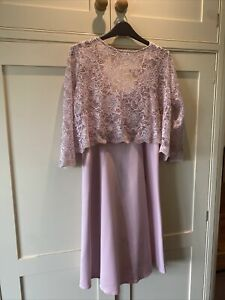 Tiffany Rose Maternity Dress Light Pink Size 8-10 Pink With Lace Top Worn Once