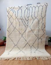 10 x 6 Feet Beni Ourain Rug Handmade Berber Vintage Carpet Moroccan Wool Rug