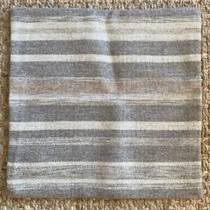 Pottery Barn Kaye Texture Stripe Pillow Cover