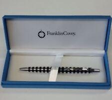 Franklin Covey Nantucket Polished Aluminum Black Stripe Ballpoint Pen - FC0072-1
