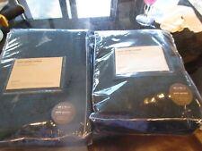 New Listing2 West Elm Worn Velvet Curtains drapes panels 48 96 regal blue New