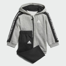 adidas Originals Unisex Baby 3 Stripes Full Zip Hooded Fleece Tracksuit NEW