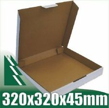20 x Pizza Boxes 320x320x45mm White Packaging Carton Mailing Cardboard Box