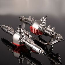 Aluminum RC 1:10 CNC Front & Rear Axle Completed Assembly For Axial SCX10