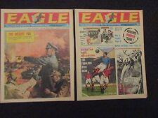 1967 EAGLE UK Weekly Comic Newspaper FN #49 & #50 Dan Dare - Desert Fox