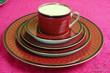 Fitz & Floyd (Chaumont - Cinnabar #414) FIVE PIECE PLACE SETTING  Exc