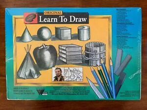 Vintage Jon Gnagy Original Learn To Draw Fine Artists Materials Box Art - Sealed