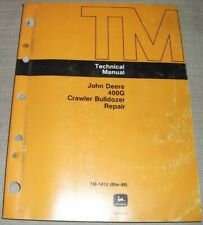 JOHN DEERE 400G CRAWLER TRACTOR DOZER TECHNICAL SERVICE REPAIR MANUAL TM-1412