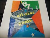 1967 MLB BASEBALL ALL STAR GAME PROGRAM WITH TICKET CALIFORNIA ANGELS RARE