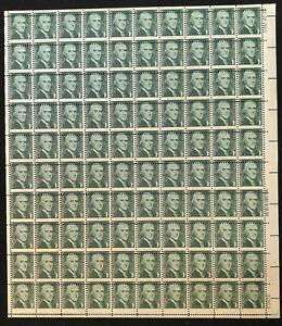U.S: MINT #1278 1¢ THOMAS JEFFERSON SHEET/100 NH OG RADICAL MIS-PERF