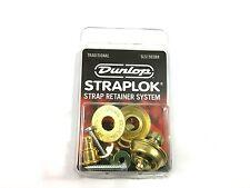 Dunlop Strap Locks - Guitar - Traditional Strap Retainer System Brass