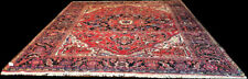A Vintage Dated Decorative 10' x 13' Genuine Heriz/Ahar Rug $999.00