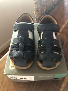 Bobux Boys Leather IW Roam Sandal Navy Size 23 EU