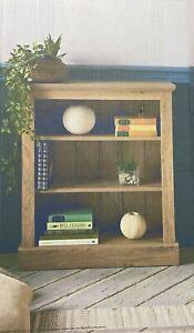 3 Tier Bookcase Deep 3 shelves Bookcase 2 Tone Bookshelf OAK