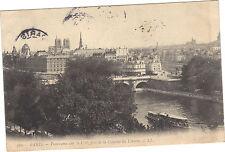 75 - cartolina - PARIGI - Panorama sul Cité pris la colonna della Louvre