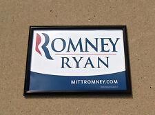 Republicans MIITT ROMNEY & PAUL RYAN Official Poster Banner Sign FRAMED!