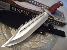 """Timber Rattler Sinful Spiked Combat Hunters Bowie Knife TR83 Finger Groove 15"""""""