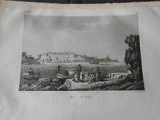 1837 INCISIONE AUDOT MALTA MALTE LA VALLETTA LA VALETTE II-BELT