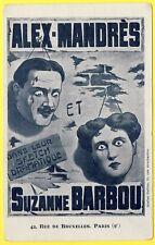 """cpa PARIS Théatre Affiche GALLICE A. MANDRÈS et S. BARBOU """"SKETCH DRAMATIQUE"""""""