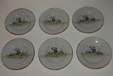 CHILDRENS TEA SET ANTIQUE HAND PAINTED MADE JAPAN VERY OLD DUTCH WINDMILLS 8 PC