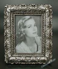Rokoko Barock Bilderrahmen Fotorahmen Rechteckig Rahmen Silber Holz Stil Antik