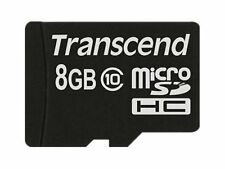 Genuine Transcend 8GB MicroSDHC Flash Card without Adaptor (Class 10)