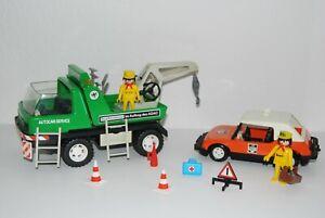 Playmobil 3473 Abschleppwagen und Bosch Service mit Zubehör 70er Jahre