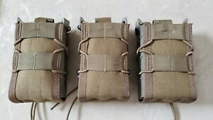 Lot of three X2R HSGI  Rifle Tacos - Coyote Brown - Molle Mount