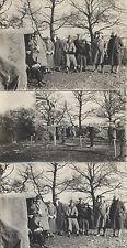 SET OF THREE 1925 PHOTOS OF CLAY DUCK SHOOTING - ENGLAND