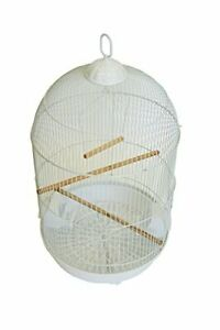 YML A1564 Bar Spacing Round Bird Cage, White, Small