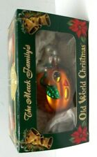 Old World Christmas Mercury Glass Ghost on Jack-o-Lantern Halloween Ornament