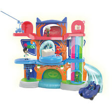 PJ MASKS Headquarters Playset w/ Catboy Figure Cat Car Light Sound Music Boy Toy