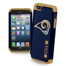 For iPhone 5 / 5s and SE Los Angeles Rams Dual Hybrid 2 Piece Case