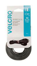 Velcro  One-Wrap  Ties  8 in. L x 1/2 in. W Black  50 pk