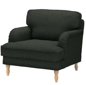 Ikea Cover for Stocksund Armchair in Nolhaga Dark Green 204.137.78