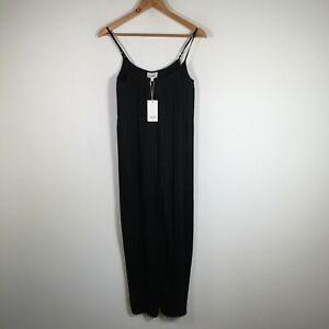 Seed Heritage BNWT womens jumpsuit size 6 black sleeveless round neck