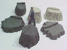 Stumps Assortment #4 cast resin All Scales see chart O,S,HO,HOn3 logging scenery