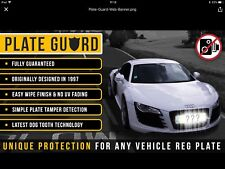 Audi Jaguar PAIR Number Plate Flash Protect System Flash Guard with PlateGuard