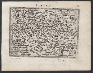 Schlesien Silesia Polska Polen Poland Ortelius Karte map Kupferstich 1593