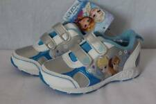 NEW Toddler Girls Tennis Shoes Size 7 Silver Frozen Princess Athletic Sneakers