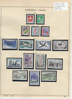 France 1960 MM+Used Stamps On 2 Pages  Ref: R6496