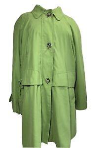 Cloud Nine Women's Coat Jacket Green Lightweight Long Sleeves Size L UK 20 22