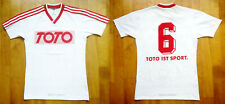 Vintage oldschool adidas 80er 80s Fussball Trikot Shirt Jersey West Germany 5/6