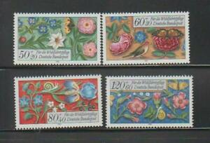 GERMANY FLOWER STAMPS 1985 FLOWERS CHARITY STAMPS MNH - FL451