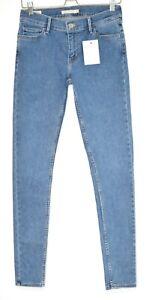 Womens Levis SUPER SKINNY 710 Light Blue PREMIUM Stretch Jeans 10 W28 W29 L32