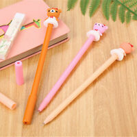 6pcs Cute Kawaii Girl Bear Gel Ink Roller Ball Point Pen School Kids Pens
