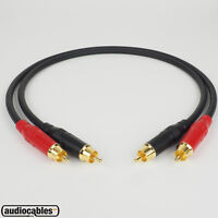 Mogami 2534 RCA Interconnect Pair Audiophile Cable w/ Amphenol Gold Connectors