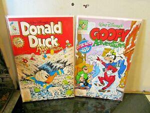 Walt Disney's donald duck goofy  lot BAGGED BOARDED