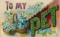 To My Pet Greeting Postcard - 1908